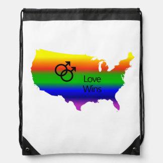 Gay Love Wins! Drawstring Bag