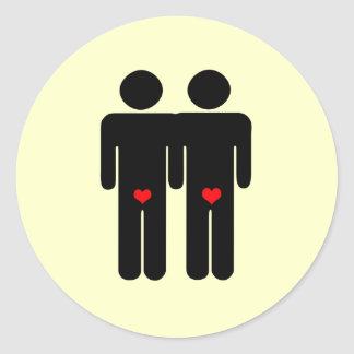 Gay Lovers Classic Round Sticker
