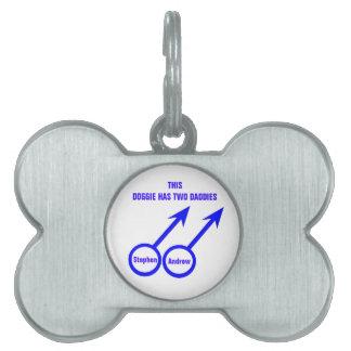 Gay Lovers Custom Pet Tag