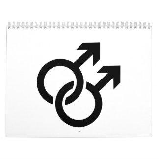 Gay male logo calendar