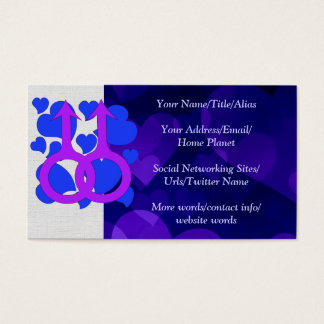 Gay Male Marriage Hearts Business Card