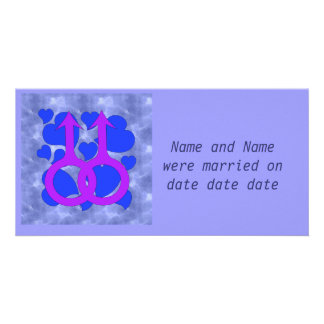 Gay Male Marriage Hearts Card