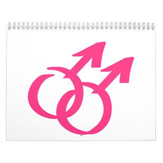 Gay male signs calendar