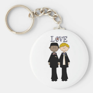 Gay Male Wedding (2) Basic Round Button Keychain