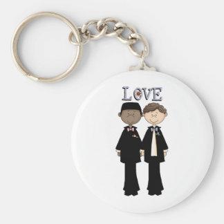 Gay Male Wedding (4) Basic Round Button Keychain