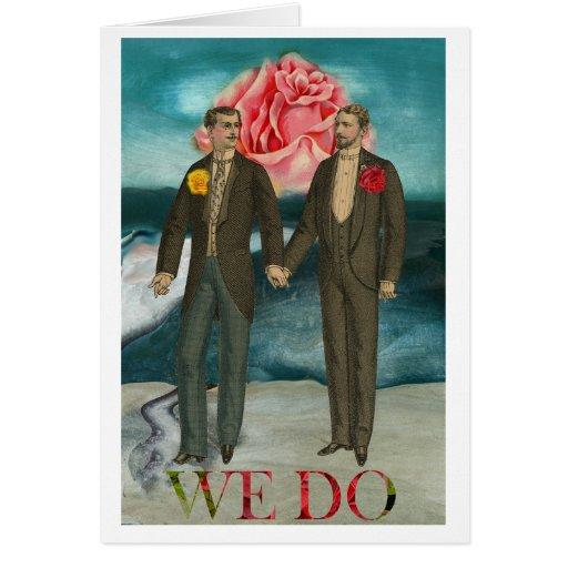 Gay Man Men Wedding Invitation Announcement Card