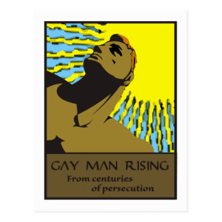 Gay Man Rising 2 Postcard