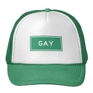 Gay, marcador del camino, Michigan, los E.E.U.U. Gorro De Camionero