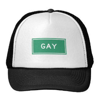 Gay, marcador del camino, Michigan, los E.E.U.U. Gorras De Camionero