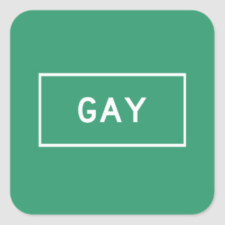 Gay, marcador del camino, Michigan, los E.E.U.U. Pegatina Cuadrada