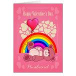 Gay, marido, el día de San Valentín con el oso de Tarjeta De Felicitación