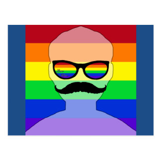 Gay marriage avatar postcard
