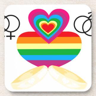 gay marriage beverage coaster