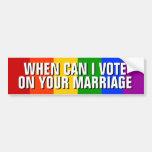 GAY MARRIAGE BUMPER STICKER