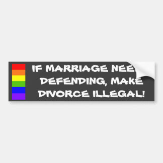 Gay Marriage Bumper Sticker Car Bumper Sticker