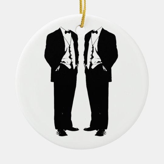 Gay Marriage Ceramic Ornament