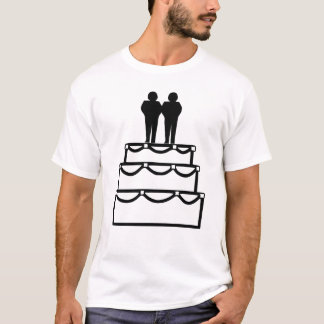 Gay Marriage Commitment Ceremony Grooms Wedding T-Shirt