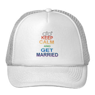 GAY marriage equality Keep Calm Gay Married Trucker Hat