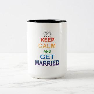 GAY marriage equality Keep Calm Gay Married Two-Tone Coffee Mug