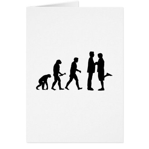 Gay Marriage Evolution Greeting Card