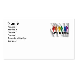 GAY MARRIAGE FLAG BUSINESS CARD TEMPLATES
