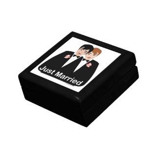 Gay Marriage Groom Keepsake Boxes