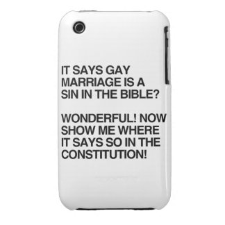 GAY MARRIAGE IS A SIN IN THE BIBLE iPhone 3 Case-Mate CASES