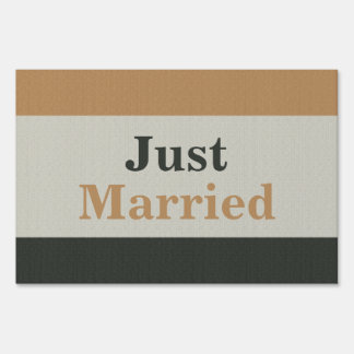 Gay Marriage Just Married Yard Sign for Grooms