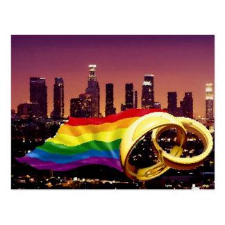 Gay Marriage Los Angeles Postcard