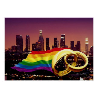 Gay Marriage Los Angeles Poster