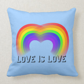 Gay marriage Love is love Throw Pillows