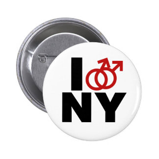 Gay Marriage New York Pinback Button