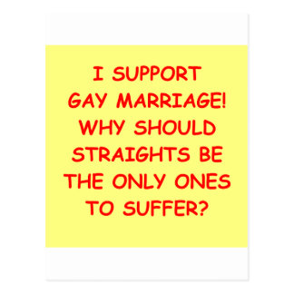 GAY marriage Post Cards