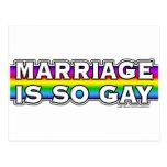 Gay Marriage Rainbow Post Card