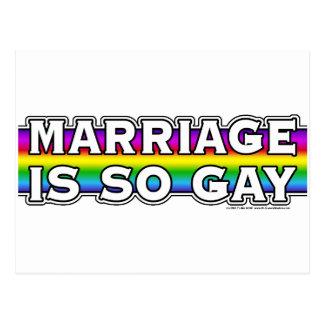 Gay Marriage Rainbow Postcard