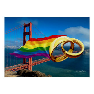 Gay Marriage San Francisco Poster