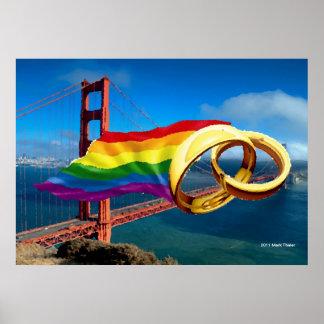 Gay Marriage San Francisco Poster
