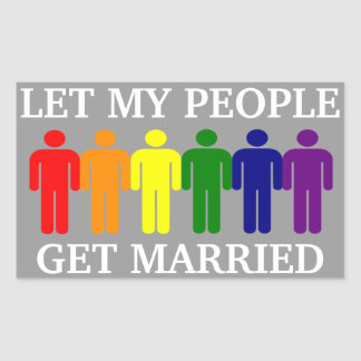 Gay Marriage Support Rectangular Sticker