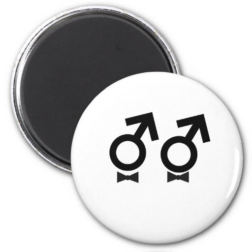 Gay Marriage T-shirt 2 Inch Round Magnet