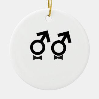Gay Marriage T-shirt Ceramic Ornament