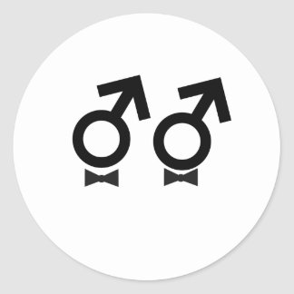 Gay Marriage T-shirt Classic Round Sticker