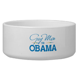 Gay Men for Obama Dog Water Bowl