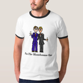 Gay Men in Suits Handsome T-shirt  Customize It!