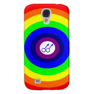 Gay Men Round Rainbow  Samsung S4 Case
