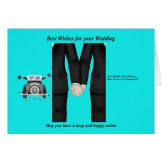 Gay Men Wedding Card