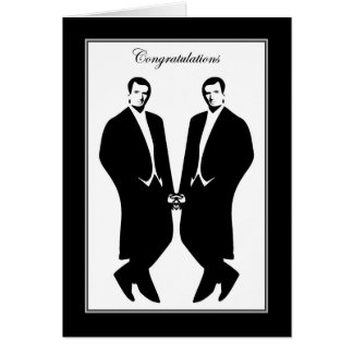 Gay Men Wedding Congratulations Commitment Male Card