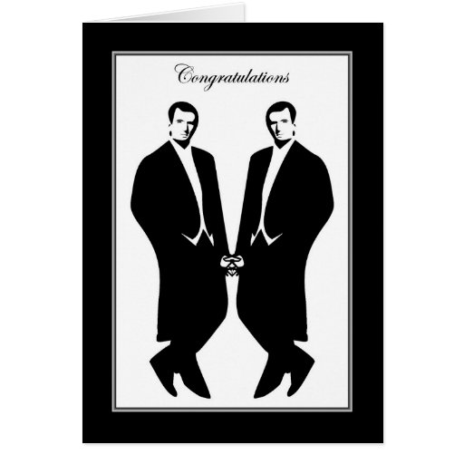 Gay Men Wedding Congratulations Commitment Male Greeting Card Zazzle