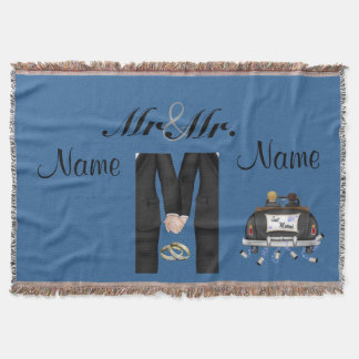 Gay Men's Wedding GIft Blanket Throw Custom