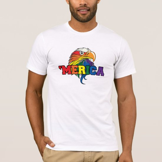 Gay Merica Pride on the 4th of july T-Shirt