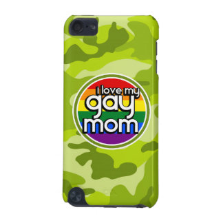 Gay Mom; bright green camo, camouflage iPod Touch (5th Generation) Covers